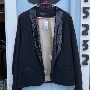 Forever 21 sequin blazer